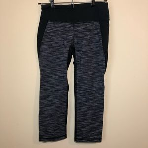Lucy | Heathered Gray and Black Workout Capri Smal